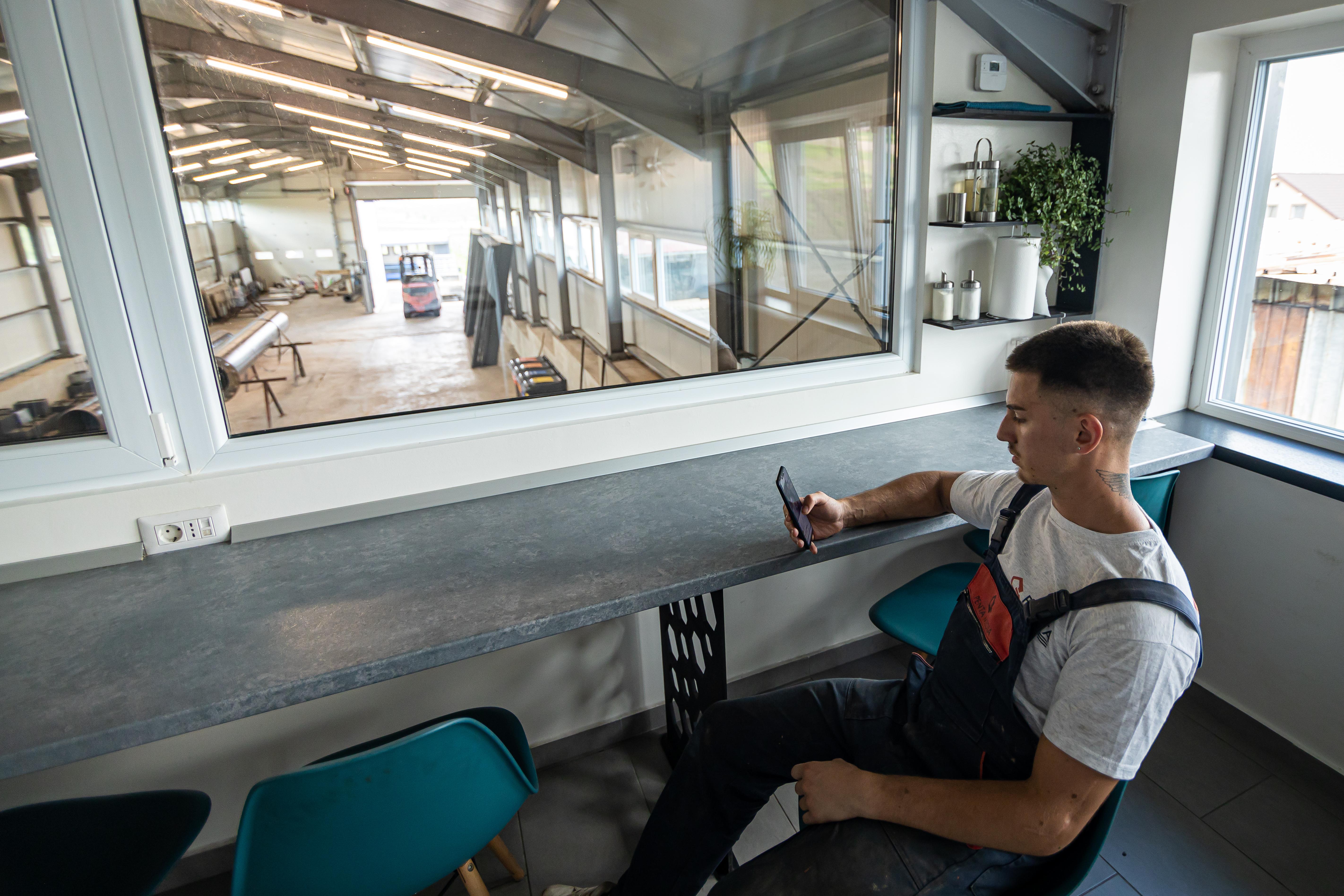 Zona de relaxare pentru angajații Penta Media
