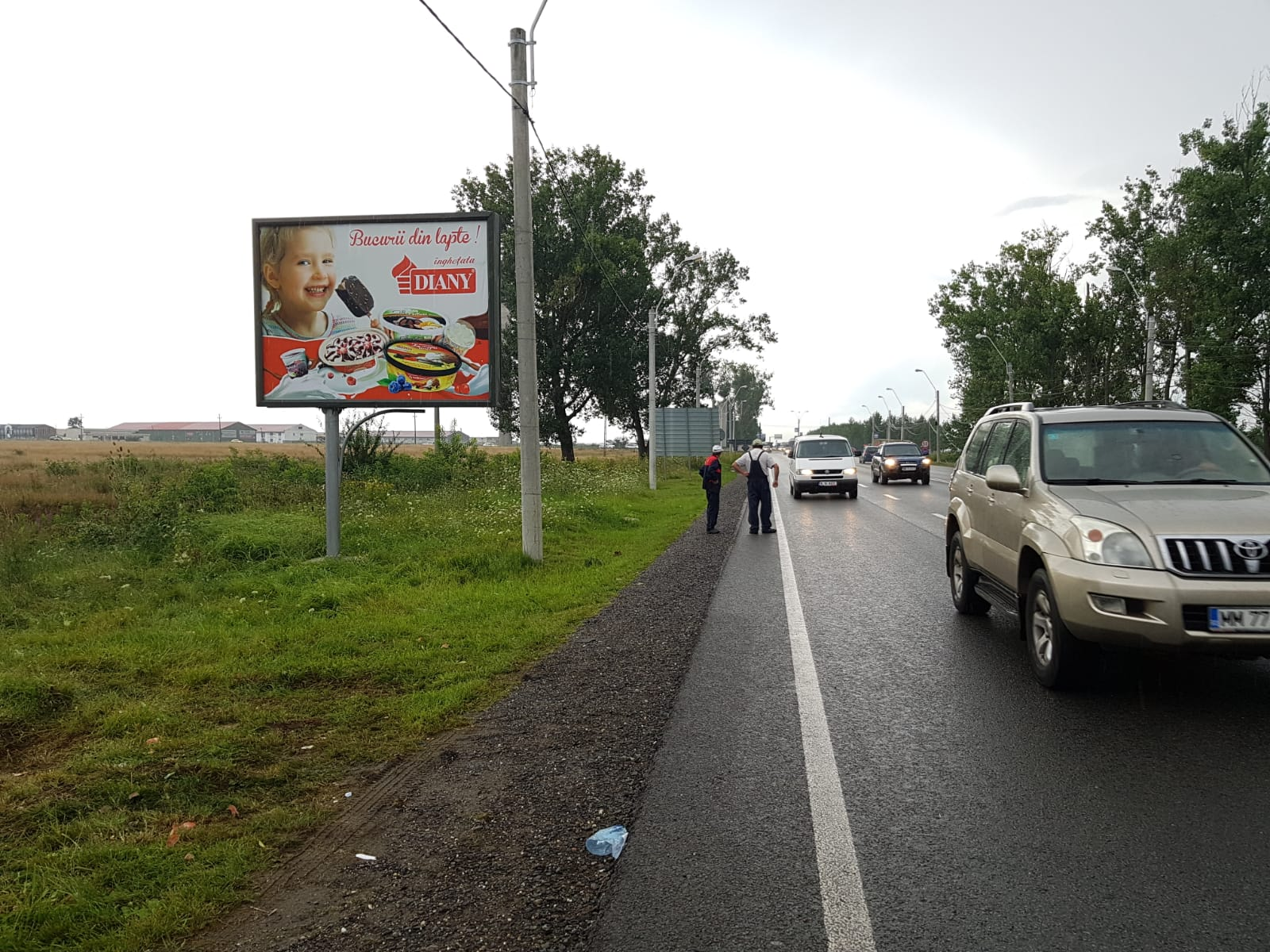 Panou Backlit amplasat la marginea străzii