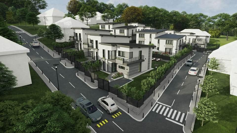 Proiect de ansamblu rezidențial 3D