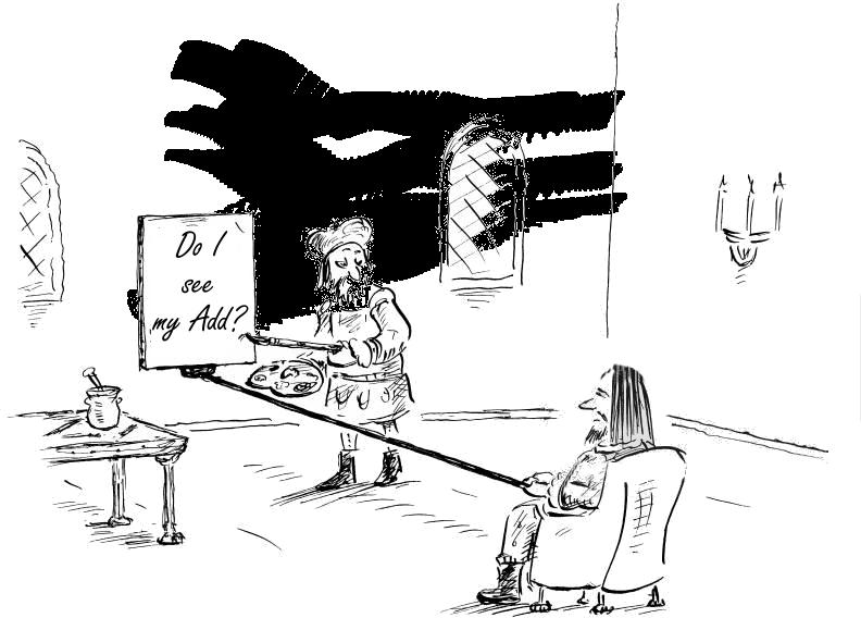 Caricatură cu regula de 5 metri pentru grafica panourilor